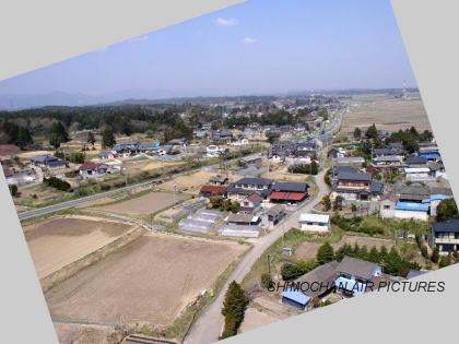 南相馬市原町区江井の空撮写真