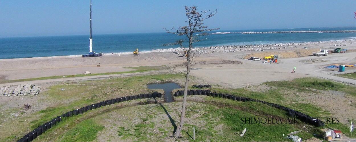 南相馬市「鹿島の奇跡の一本松」を空撮
