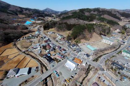 東日本大震災から約5年後の葛尾村の空撮